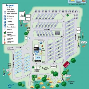 Clarksville Rv Park Site Map